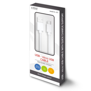Kabel USB - micro USB Quick Charge, 5A, 1m SAVIO CL-127
