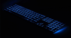 Klawiatura - aluminiowa Mac podświetlana RGB Space Gray