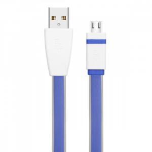 Kabel USB - Micro USB 1m niebieski