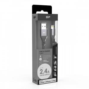 Kabel do ładowania Ipohne boost link LK30AL GRAY nylon