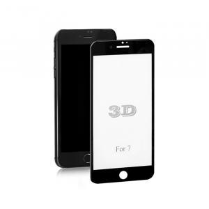 Hartowane szkło ochronne Premium do Apple iPhone 7 | CZARNE