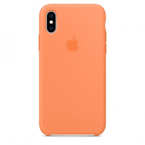 Etui silikonowe iPhone XS - papaja