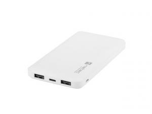 Power Bank Extreme Media Trevi Slim 10000mAh 2x USB + 1x USB-C biały
