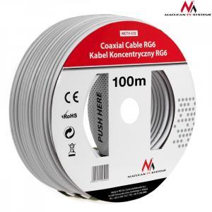 Kabel przewód koncentryczny satelitarny 1.0CCS RG6 100M MCTV-572