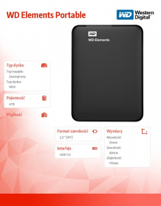 HDD Portable 4TB Elements 2,5