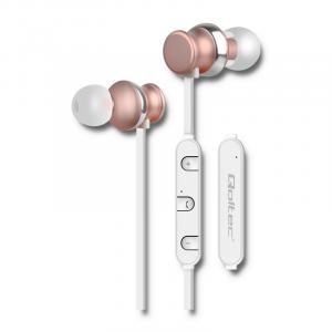 Słuchawki magnetyczne bezprzewodowe BT ,dokanałowe z mikrofonem, szmpańskie