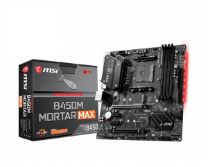 Płyta główna B450M MORTAR MAX AM4 4DDR4 DP/HDMI/M.2 uATX