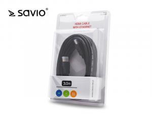 Kabel HDMI CL-06M blister, złote końcówki v1.4 3D, 4Kx2K, 3m