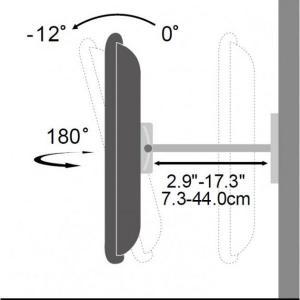 Uchwyt ścienny LCD/LED 23-55cali regulowany, 50kg, czarny