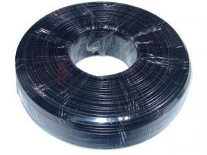 Kabel telefoniczny 4zyły czarny 100m rolka linka