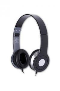 Stereofoniczne słuchawki z mikrofonem CITY BLACK