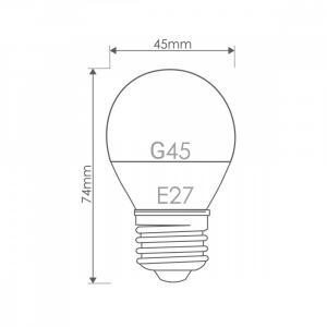 Żarówka LED G45 E27 7W 556lm ciepła biała mleczna