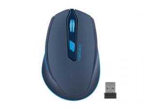 Mysz bezprzewodowa Siskin 2400DPI niebieska z cichym klikiem