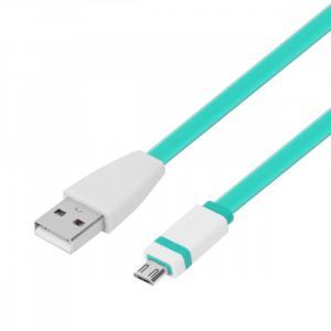 Kabel USB-Micro USB 1m. zielony