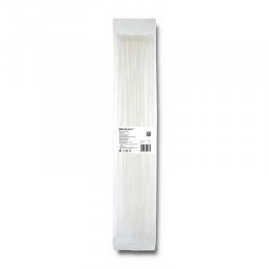 Opaski zaciskowe 4.8x500mm, nylon UV, 50szt., białe