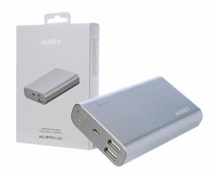 PB-AT10 Grey ultraszybki aluminiowy Power Bank | 10050 mAh | 3xUSB | 5.4A | Quick Charge 3.0 | kabel micro USB