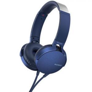 MDR-XB550APL niebieskie, mikrofon