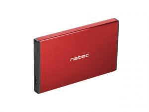 Kieszeń zewnętrzna HDD/SSD Sata Rhino Go 2,5 USB 3.0 czerwona