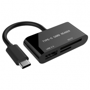 Czytnik kart na USB-C SDXC/combo/czarny