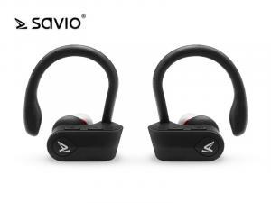 Słuchawki bezprzewodowe Savio TWS-03 Bluetooth 5.0 z mikrofonem, sportowe