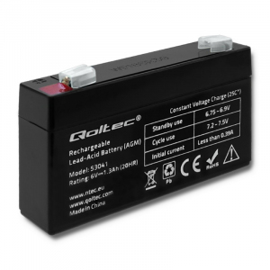 Akumulator AGM | 6V | 1.3Ah | max.0.39A