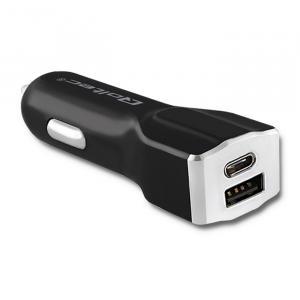 Inteligentna ładowarka samochodowa | 12-24V | 27W | 5V | 3A | USB 2.0 + USB typ C