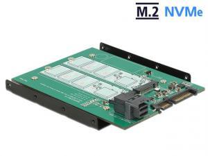 Adapter Sata 22PIN + SFF-8643 NVME -> 2x M.2 NGFF