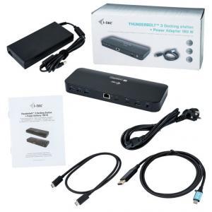 Stacja Dokująca Thunderbolt 3 Dual 4K 2x 4K/60Hz lub 1x 5K/60Hz 2x TB3 port PD 85W USB-C do DisplayPort adapter