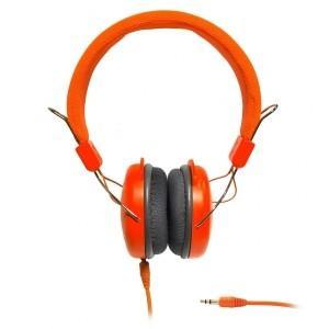SŁUCHAWKI STEREO z mikrofonem AP-60A pomarańczowe