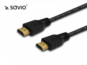 Kabel HDMI v1.4 Savio CL-121 czarny, 4Kx2K, 1,8m, wielopak 10szt.
