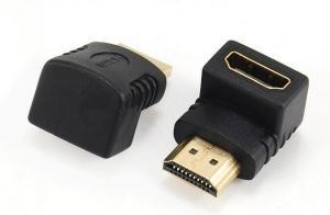 Adapter HDMI kątowy 90 męski-żeński