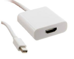 Adapter mini DisplayPort [M] > HDMI [F], biały