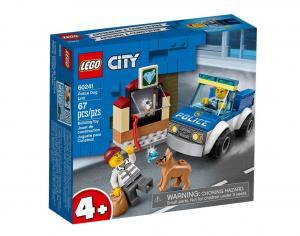 Klocki City Oddział policyjny z psem