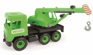 Dźwig zielony 38 cm Middle Truck w kartonie