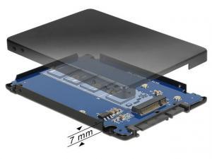 Adapter SATA 22PIN -> M.2 NGFF Obudowa