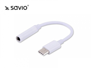 Adapter audio - USB Typ C - mini Jack 3,5 mm SAVIO AK-35
