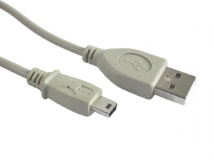 Kabel miniUSB 2.0 CANON 5pin 1.8m szary