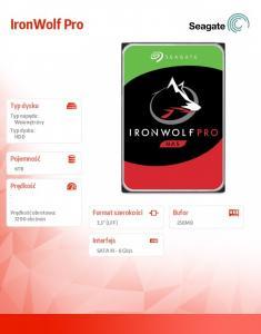 Dysk IronWolf Pro 6TB SATA ST6000NE000