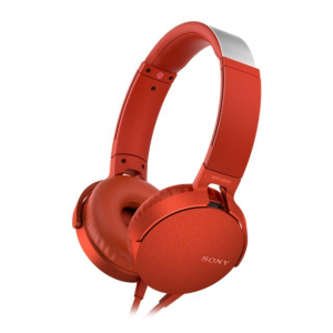 MDR-XB550APR czerwone, mikrofon