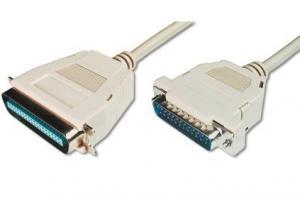 Kabel połączeniowy LPT Typ DSUB25/Centronics (36pin) M/M szary 1,8m