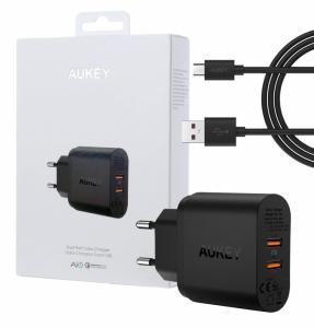 PA-T16 ultraszybka ładowarka sieciowa 2xUSB Quick Charge 3.0 6A 36W