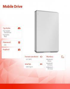Dysk twardy Mobile Drive 2TB USB-C STHG2000400
