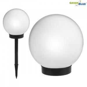 Solarna lampa ogrodowa Kula LED GB123 Biała