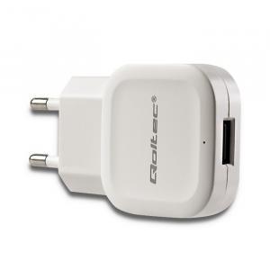 Ładowarka sieciowa 12W | 5V | 2.4A | USB | Biała