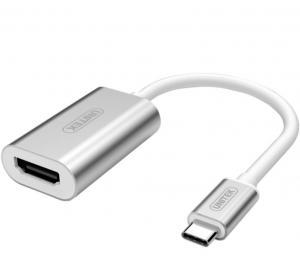 Adapter USB TYP-C na HDMI, Y-6316 ALUMINIUM