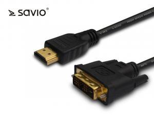 Kabel CL-10M HDMI-DVI 1,5 m Savio