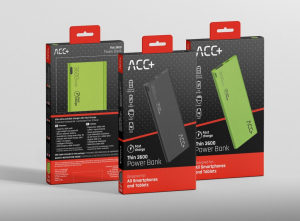 Power Bank ACC+ THIN 3600 mAh zielony