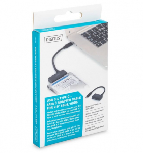 Konwerter/Adapter USB 3.1 (Gen.1) Typ C do SSD/HDD 2.5
