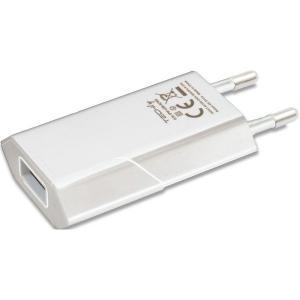 Ładowarka sieciowa USB 5V 1A biała