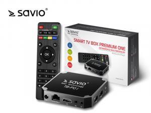 Odtwarzacz multimedialny SAVIO TB-P01 Smart TV Box Premium